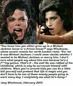Amy Winehouse♡ ☆ Quote about Michael Jackson ☆