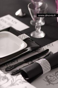 Décoration noire et blanche glamour