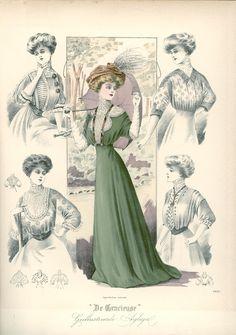 [De Gracieuse] Zomertoiletten (July 1908)