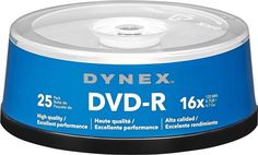 25 Pack Dynex 16x DVD-R Disc Spindle Brand New