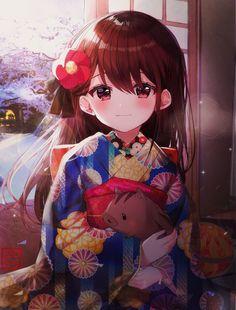 It's been a long time since we met. Loli Kawaii, Kawaii Anime Girl, Anime Art Girl, Manga Girl, Anime Girls, Kawaii Art, Pretty Anime Girl, Beautiful Anime Girl, Anime Love