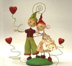 'histoire d'amour'... : Sculptures, gravures, statues par au-petit-bazartistik