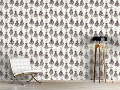 Design #Tapete Lavendel Flora, Delicate, Curtains, Shower, Prints, Design, Self Adhesive Wallpaper, Lavender, Wall Papers