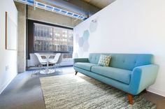 Rent meeting space at 157 Columbus Avenue daily or hourly with Breather. Book office space in Upper West Side. Interior Design Work, Upper West Side, Sofa, Couch, Nyc, New York, Inspiration, Furniture, Peace