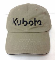 KUBOTA TRACTOR HAT Dark-Khaki Taupe amp Black Equipment Manufacturer Men  378a15c21d1