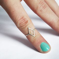Diamond Knuckle Ring Silver