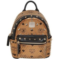 MCM Extra Mini Bebe Boo Special Backpack ($1,450) ❤ liked on Polyvore featuring bags, backpacks, gold, bum bag, cross body backpack, crossbody, daypacks and backpack