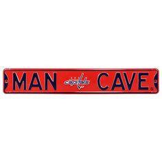 Washington Capitals 6 x 36 Man Cave Steel Street Sign - Red