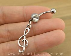 music note Belly Button Rings infinity belly button by OceanTime, $4.59