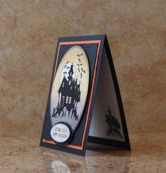Haunted House Halloween Card Kit, Set of 4, Stampin Up card kit