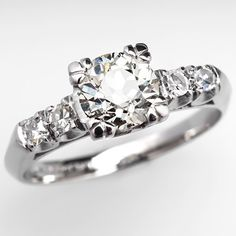 Antique Diamond Engagement Ring w/ Accents. Looks like the one I received from my grandmother.