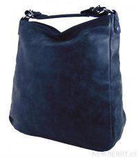 Velká kabelka z broušené kůže TH2015 tmavě modrá