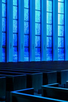 Inuce illuminates Chinese church with giant blue stained-glass window