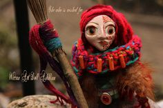 Wiccan Art Doll tribal woodland witch  Read Head Aibhlinn by WiccanDolls on Etsy
