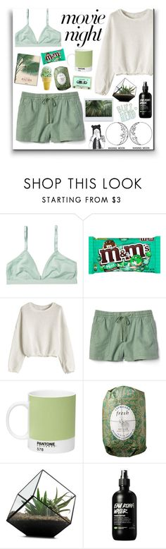 """Movie night"" by vxchar ❤ liked on Polyvore featuring Monki, Taschen, Gap, Pantone, Fresh, GREEN and movieNight"
