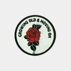 Growing old, and moving on.Collaboration between Ball & Chain Co. and Shane Swift. Embroidered patch design Merrowed edge stitching Iron-on backing Measurements: diameter By Ball & Chain Co. Pin And Patches, Iron On Patches, Jacket Patches, Revolutionary Girl Utena, Fountain Of Youth, Hair Rinse, Patch Design, Cassandra Clare, Ball Chain