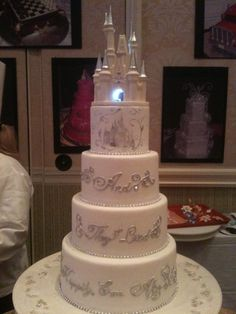 DISNEY WEDDING CAKE IDEA... and they lived happily ever after!