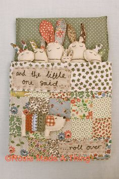 Rabbit Family Art Print Wall Decor And The by RosieMadeAThing, £18.00 This would be a cute set to sew for a little girl!