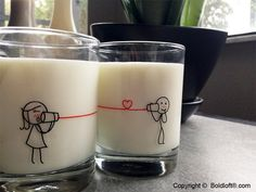 """Valentine's Day Special!! $23.99-BoldLoft """"Say I Love You Too"""" His and Hers Drinking Glass Set. FREE UPGRADE to Expedited Shipping. We'll make sure your gifts arrive by 02/14. (**For instock items only. Offer expires on 02/11/2015 at 1:00pm EST) #boldloft #ValentinesDayGifts"""