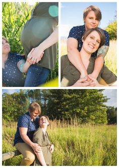 lesbian maternity photo session - two moms - gorgeous golden hour photos