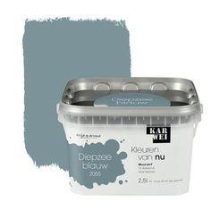 KARWEI Kleuren van Nu muurverf mat diepzeeblauw 2,5 l kopen? Verfraai je huis & tuin met Muurverf kleur van KARWEI