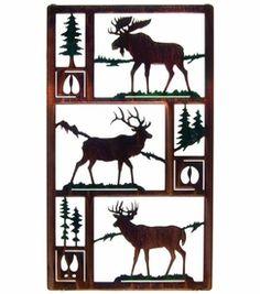 """20"""" Northwest Wildlife Trio Scene (Moose)"""