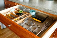 3 Steps to Kitchen Organization -- well, really, how to organize any space in three simple steps!