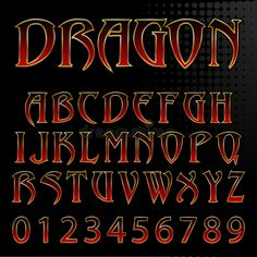 Illustration about Abstract vector illustration of a dragon style font. Illustration of letters, designers, steel - 35693206 Gothic Lettering, Graffiti Lettering Fonts, Vintage Lettering, Typography Logo, Lettering Design, Tattoo Fonts Alphabet, Handwriting Alphabet, Hand Lettering Alphabet, Graffiti Alphabet