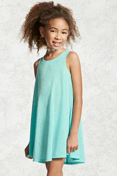 Forever 21 Girls - A slub knit tank dress featuring a swing silhouette and a round neckline.