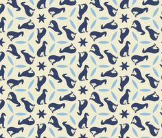 Greyhound Geometric fabric