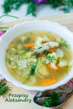 Przepisy Aleksandry: ZUPA KOPERKOWA Z RYŻEM/dill soup with rice Soup Recipes, Cooking Recipes, Dessert Recipes, Czech Recipes, Ethnic Recipes, Polish Recipes, Polish Food, Frugal Meals, Soups And Stews