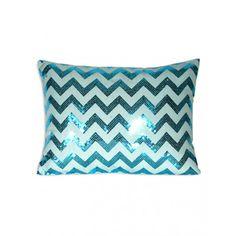 Chevron Sequin Pillow - Bedding - Dorm + Apt