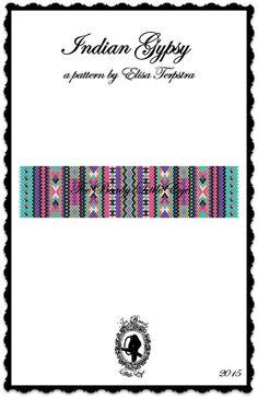 Peyotl motif Bracelet Peyote Stitch perler par TheBeadyLittleEye