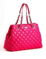 Kate Spade Maryanne Quilted Leather Tote Bag in Pink