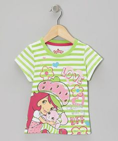 Take a look at this Green Stripe Strawberry Tee - Toddler by Strawberry Shortcake on #zulily today!