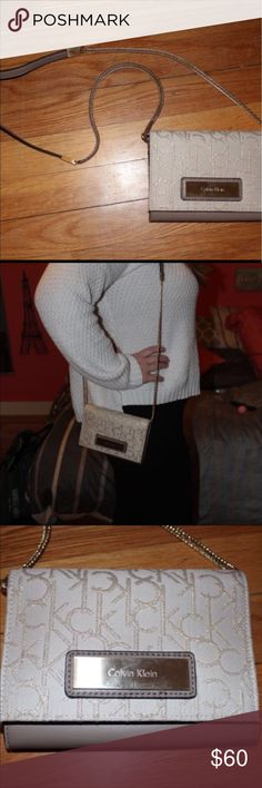 Calvin Klein Handbag - used once or twice, in great condition  - dimensions: 4in X 6.5in (strap drop 21in) - purchased from Calvin Klein Outlet  * smoke free home Calvin Klein Bags Crossbody Bags
