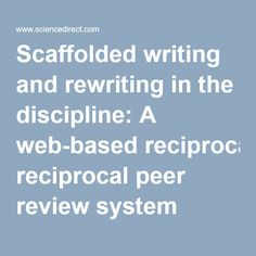 Scaffolded writing and rewriting in the discipline of taxonomy