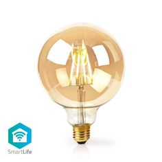 Combine modern day technology with classic looks with this Smart Golden Globe Filament Bulb. Antenna Gain, What Is 5, Luminous Flux, Color Rendering Index, Globe Lights, Gold Material, Home Automation, Golden Globes, Light Colors