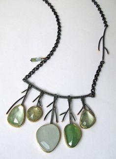 Aquamarine Meadow necklace by Sydney Lynch