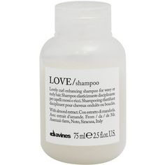 Davines Love Curl Shampoo 75ml ($9.15) ❤ liked on Polyvore featuring beauty products, haircare, hair shampoo, beauty, fillers, davines, frizzy hair shampoo, curly hair care and davines hair care