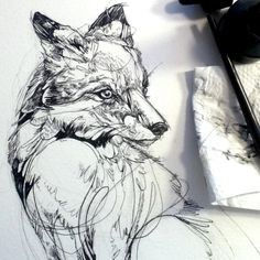 Surprise: more inking! This time it's a fox though. Surprise again!