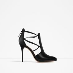 ZARA - WOMAN - HIGH HEEL LEATHER ANKLE BOOTS WITH STRAPS
