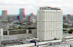https://flic.kr/p/KEWQSL | Erasmus MC Rotterdam 3D | anaglyph stereo red/cyan View from Euromast