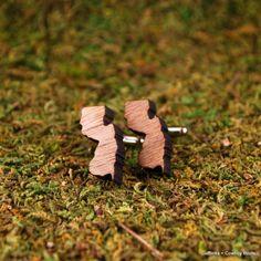10 Valentine's Day Gifts for Him Under $50. Walnut Cufflinks. http://blog.aftcra.com/blog/10-valentines-day-gifts-for-him-under-50/