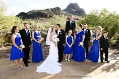 Star Dance in Tucson, Arizona, ceremony site, wedding party, mountain background and barn. www.somethingbluephotography.net