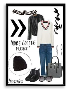 """""""~~Stay Creepy~~"""" by av-anul ❤ liked on Polyvore featuring mode, Bomedo, Michael Kors, DaBaGirl, GANT, Accessorize, Christian Dior et beanies"""