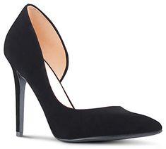 a620d78d26eb AFFORDABLE FOOTWEAR Womens Pointy Toe Low Platform High Heels Stiletto  Dress Pumps - (Black Nubuck) - 10