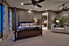 Jewel Tone Bedroom Design Ideas, Pictures, Remodel and Decor Bedroom Wall Colors, Gray Bedroom, Bedroom Decor, Bedroom Ideas, Royal Bedroom, Bedroom Inspiration, Master Bedroom, Colorful Interior Design, Home Interior Design