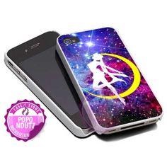 Sailor Moon Logo Galaxy  iPhone 4/4s/5/5s/5c Case  by popondutz, $15.00