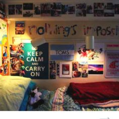 Cute bed room, dorm ideas!